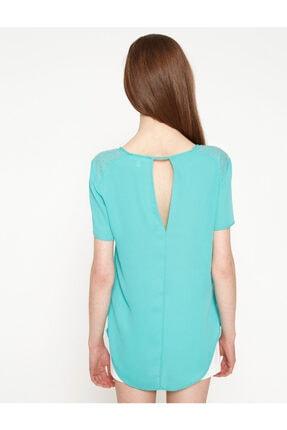 Koton Kadın Yeşil Bluz 7YAK63743EW 3