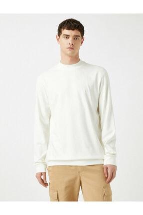 Koton Erkek Beyaz Sweatshirt 1KAM74082OK 2
