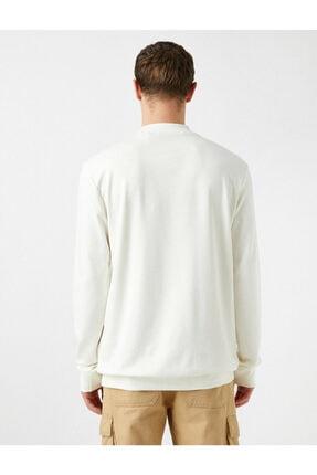 Koton Erkek Beyaz Sweatshirt 1KAM74082OK 3