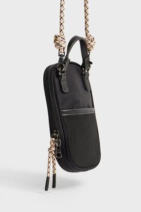 Stradivarius Kadın Siyah Omuz Askılı Telefon Çantası 1