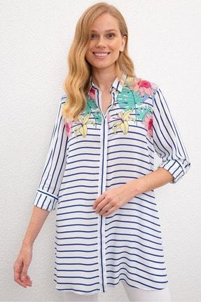 US Polo Assn Lacıvert Kadın Gömlek 0