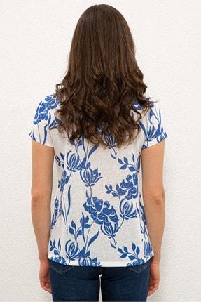 US Polo Assn Beyaz Kadın T-Shirt 2