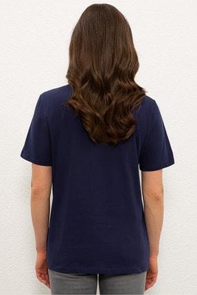 US Polo Assn Lacıvert Kadın T-Shirt 2