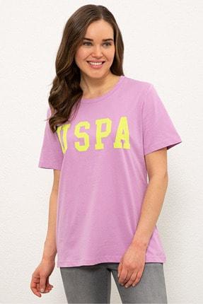 US Polo Assn Mor Kadın T-Shirt 0