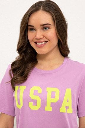 US Polo Assn Mor Kadın T-Shirt 1