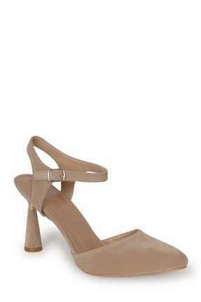 PUNTO Kadın Süet Kadeh Topuklu Ayakkabı 1