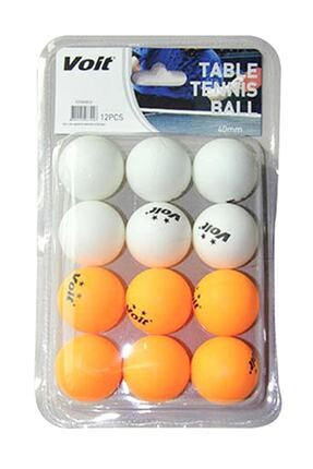 Voit 12'li Pinpon Topu (beyaz+turuncu) 0