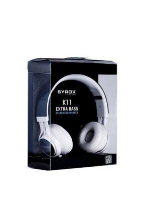 Syrox K11 Mikrofonlu Stereo Kablolu Kulak Üstü Kulaklık 0