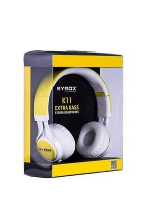 Syrox K11 Mikrofonlu Stereo Kablolu Kulak Üstü Kulaklık 3