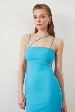 TRENDYOLMİLLA Mavi Askı Detaylı Abiye & Mezuniyet Elbisesi TPRSS21AE0052 3