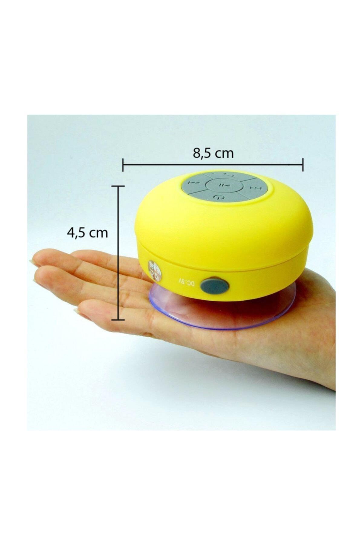 OEM Su Geçirmez Mini Bluetooth Duş Hoparlörü (sarı)