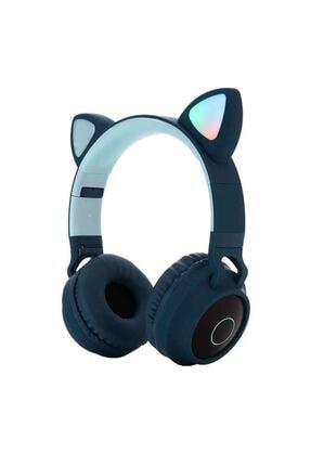 OEM Kart Girişli Kedi Bluetooth Kulaklık Yüksek Ses Akıllı LED Kulaklık   12 Saat Fazla Şarj Zw-028 0