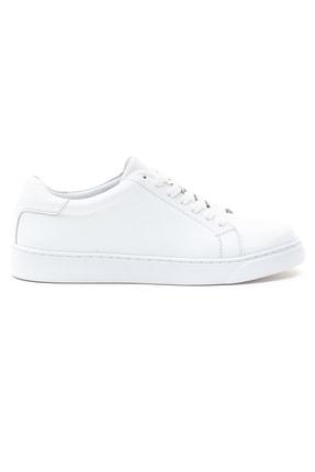 GRADA Kadın Sade Beyaz Hakiki Deri Hafif Taban Sneaker Ayakkabı 1