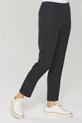 Armine Kadın Siyah Çıtçıt Detaylı Skinny Pantolon 21y2026 2