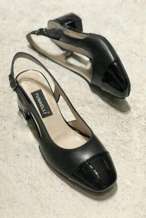 Kadın Siyah Hakiki Deri Topuklu Ayakkabı 35-41 Numara 000616.1SİYAH.RUGAN