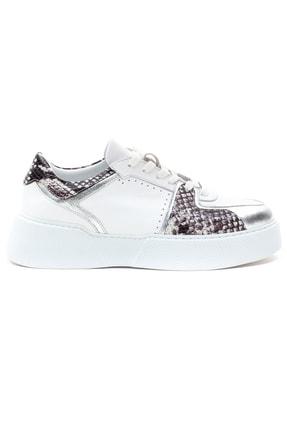 GRADA Kadın Beyaz Hakiki Deri Kalın Taban Sneaker Ayakkabı 1