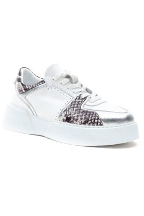 GRADA Kadın Beyaz Hakiki Deri Kalın Taban Sneaker Ayakkabı 2