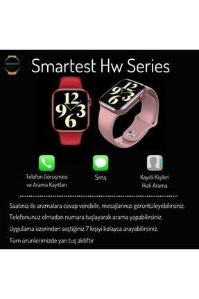 SMARTEST Hw16 Series Akıllı Saat Suya Dayanıklı Nabız & Tansiyon Ölçer Çok Fonksiyonlu Ios Ve Android Uyumlu 3