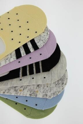 Defacto Kadın Desenli  Babet Çorap 8'li 1