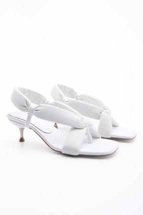 Marjin Kadın Parmak Arası Topuklu Sandalet Eltazbeyaz 1