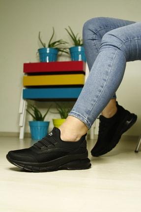 LETAO Kadın Siyah Spor Yürüyüş Ayakkabı 1