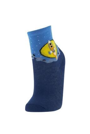 Defacto Erkek Çocuk Kutulu Desenli 6'lı Soket Çorap 4
