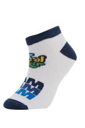 Defacto Erkek Çocuk Patik Çorap 4