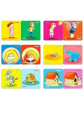 AyasEğiticiOyuncak Circle Toys Zıt Kavramlar Eşleştirme Zeka Kartları Oyunu Türkçe Ve Ingilizce Okul Öncesi 1