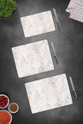 Decorita 3'lü Takım Taş Görünümlü   Cam Kesme Tahtası - Cam Kesme Tablası 2