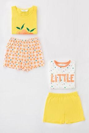 Penti Çok Renkli Kız Çocuk Little Fruits Ss 4Lu Pijama Takımı 0
