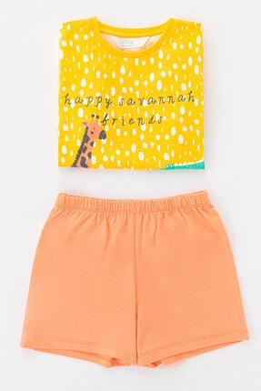 Penti Çok Renkli Kız Çocuk Savannah Friends Ss 4Lu Pijama Takımı 2