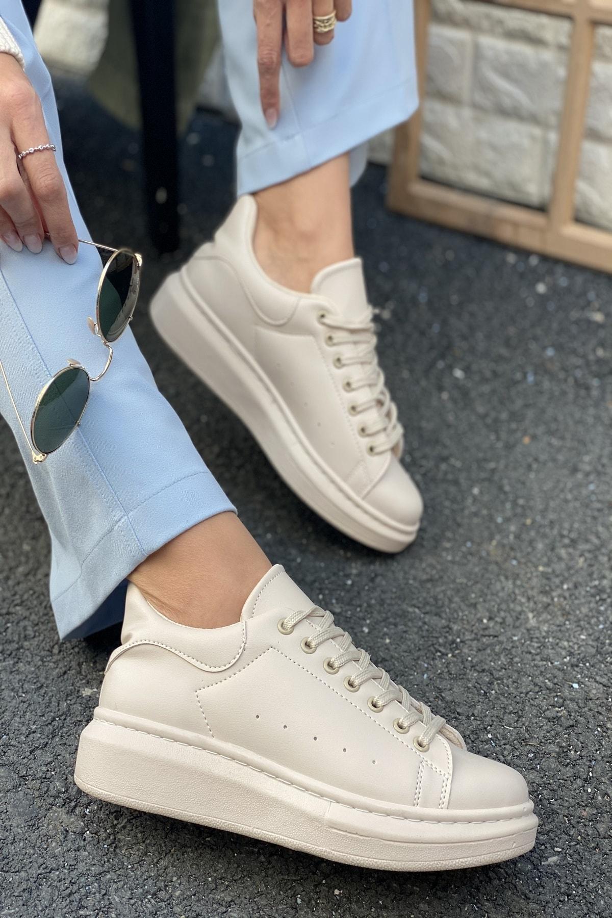 Unisex Delik Detaylı Parçalı Sneaker