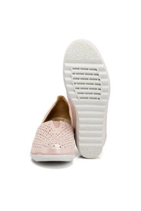 Tergan Pudra-simli Deri Kadın Ayakkabı 64206n0p 1