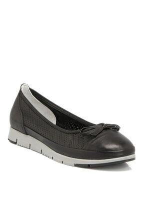 Tergan Siyah Deri Kadın Ayakkabı 64292a23 0