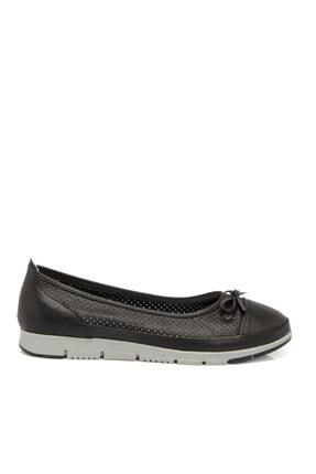 Tergan Siyah Deri Kadın Ayakkabı 64292a23 3