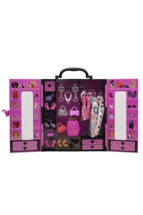 Furkan Oyuncak Sonsuz Hareket Bebekli Barbie Gardrobu, Çantalı Giysi Dolabı 3