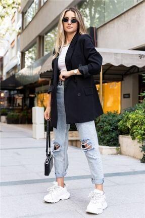 Hilal yılmaz tekstil Kadın Siyah Blazer Ceket 1
