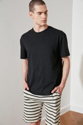 TRENDYOL MAN Siyah Erkek Geniş Kesim T-Shirt TMNSS20TS0947 1