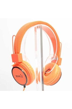 Zore Turuncu Stereo Kulaküstü Kulaklık Y-6338 Mp3 3.5mm 0