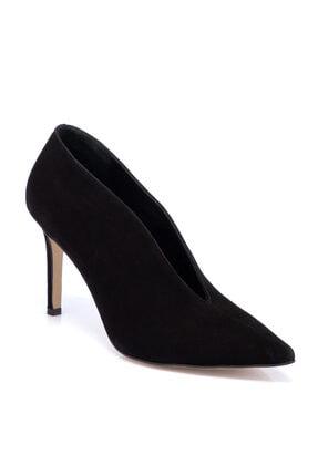 Tergan Kadın Siyah Süet Deri Ayakkabı 65658a01 0