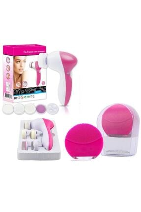 Lusso Cosmetics Mini 2 Şarjlı Titreşimli Cilt Temizleme Cihazı Yüz Masaj Aleti 5 In 1 Pilli 0