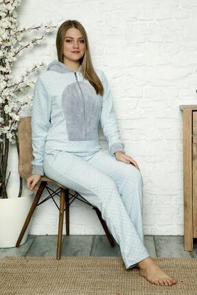 Kışlık Peluş Polar Kadın Tulum Pijama Takım- Welsoft 21000
