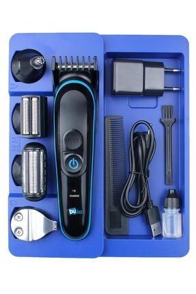 İŞTEBUKACMAZ Özel Erkek Bakım Tıraş Makinesi 8 Ürün Bir Arada Saç Sakal Burun Kulak Ense 4