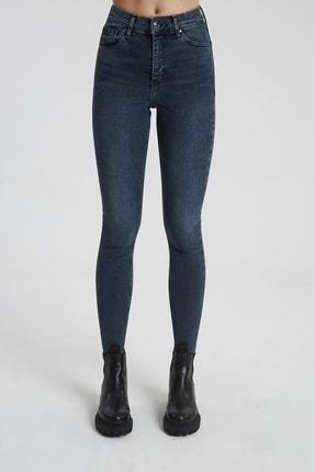CROSS JEANS Judy Koyu Taş Indigo Yüksek Bel Skinny Fit Jean Pantolon 1