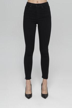 CROSS JEANS Judy Siyah Yüksek Bel Paçası Fermuarlı Skinny Fit Jean Pantolon 1