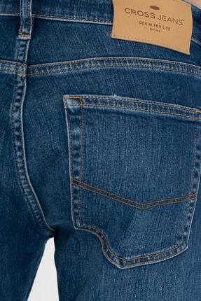 CROSS JEANS Matthew Orta Mavi Slim Straight Normal Bel Jean Pantolon 4