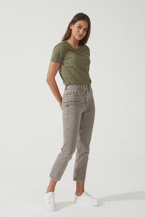 CROSS JEANS Kadın Eliza Cropped  Vizon Yüksek Bel Straight Fit Jean Pantolon C 4518-017 C 4518-017 0