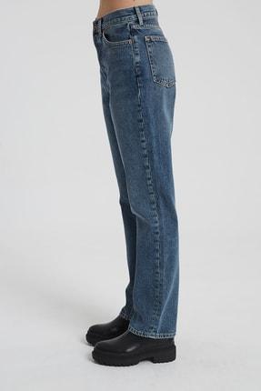 CROSS JEANS Dıana Koyu Taş Indigo Yüksel Bel Dad Straight Fit Pantolon 2