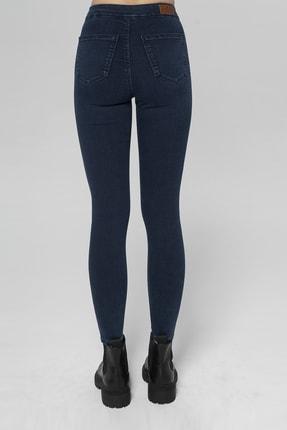 CROSS JEANS Janıe Koyu Mavi Yüksek Bel Önü Cepsiz Jegging Jean Pantolon 2