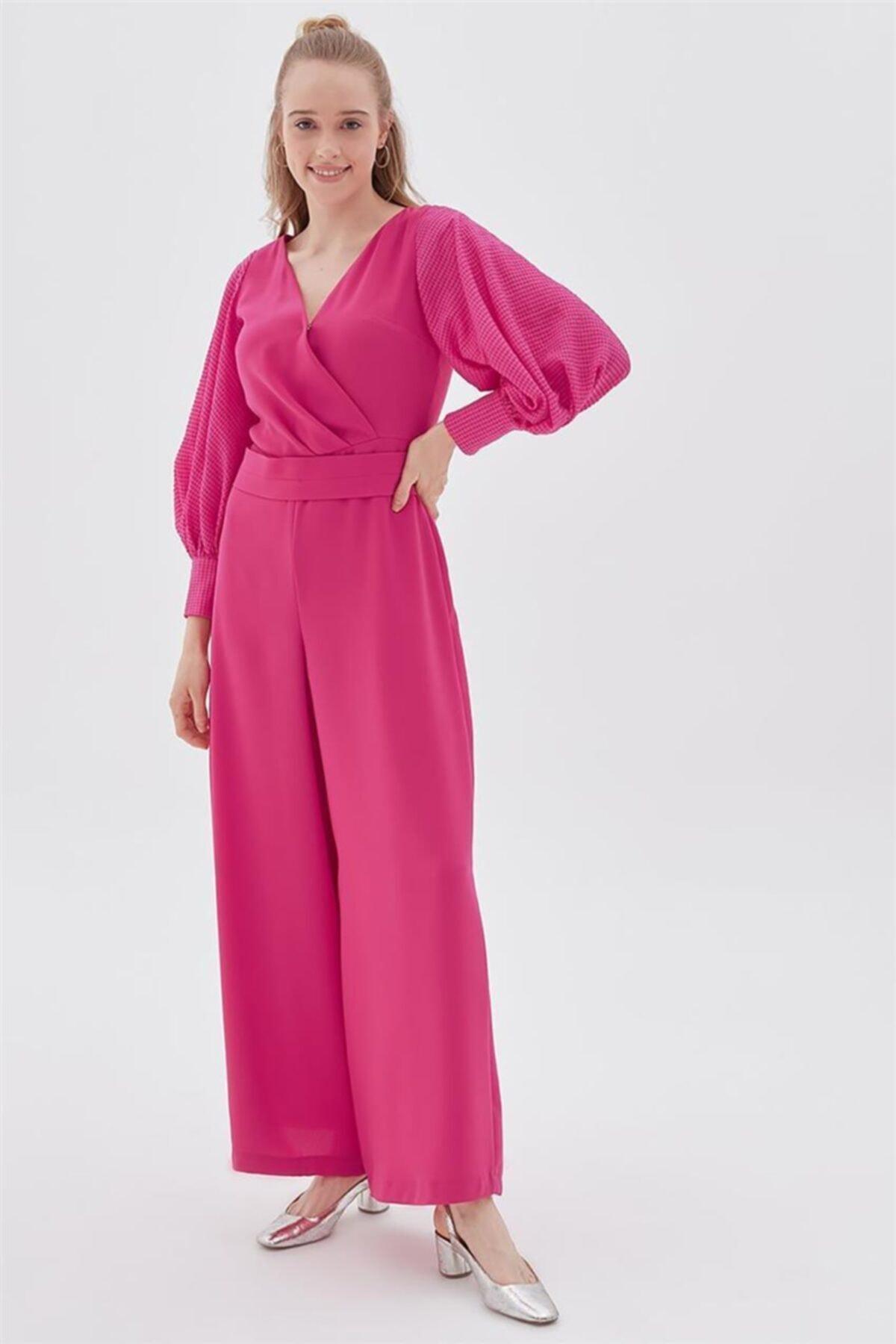 Elbise-fuşya Ka-b20-22013-04